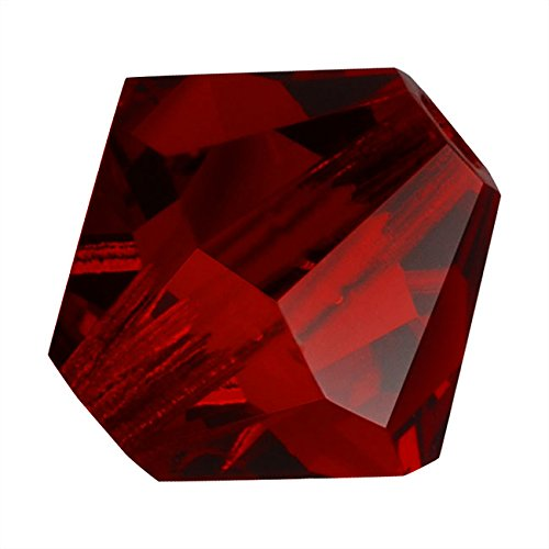 - Preciosa Czech Crystal Bicones Glass Beads 4mm 'Siam' Red (50)