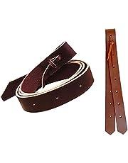 2 Piece Premium Leather Cinch Strap and Off Billet Saddle Set-Western Saddle Strap Combo Set