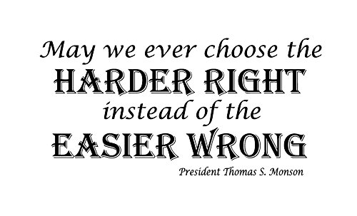 Amazoncom Motivational Vinyl Wall Quote Choose The Harder Right