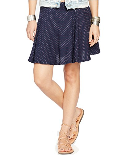 Denim & Supply Ralph Lauren Womens Star Printed Pull On A-Line Skirt Navy S -