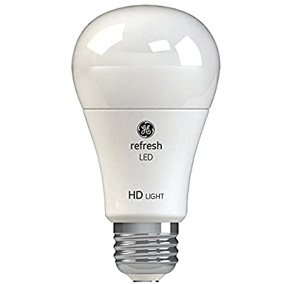 GE Refresh 60W Equivalent Daylight 5000K High Definition A19 Dimmable LED 8-Pack
