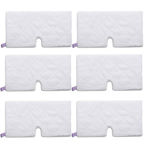 Pro Steamers Euro (Amyehouse 6 Pack Rectangle Steam Pocket Mop Microfiber Pads Cleaning Pads Replacement for Shark S3501 S3601 S3801CO S3901)