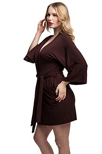 ExpressBuyNow Comfortable Modal cotton Kimono Robe Short Bathrobe ... e68ca9960