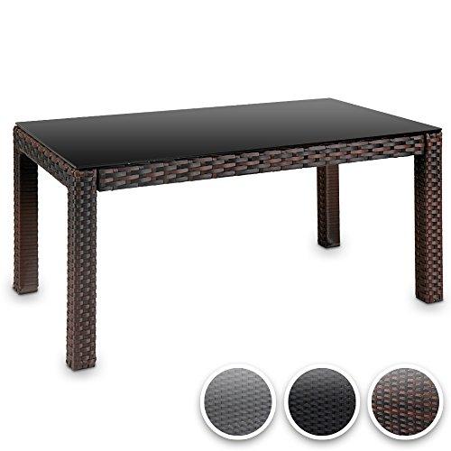 Polyrattan Tisch Mit Glasplatte.Amazon De Hochwertiger Polyrattan Tisch Teetisch