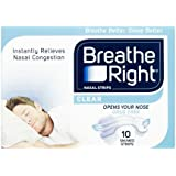 Breathe Right Clear Nasal Strip, Small/Medium, 10-Piece
