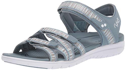 Ryka Women's Savannah Sandal, Stone Denim, 6 M US