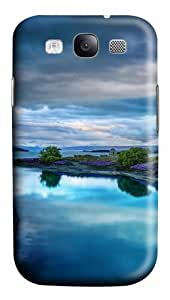 Samsung Galaxy S3 Case Cover - Calm Blue Landscape 3D PC Hard Back Cover for Samsung Galaxy S III / Samsung S3/ Samsung i9300