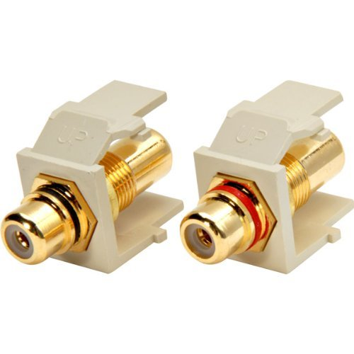 White Rca Module - Leviton 833-40830-00I Gold-plated Solderless Rca Jack