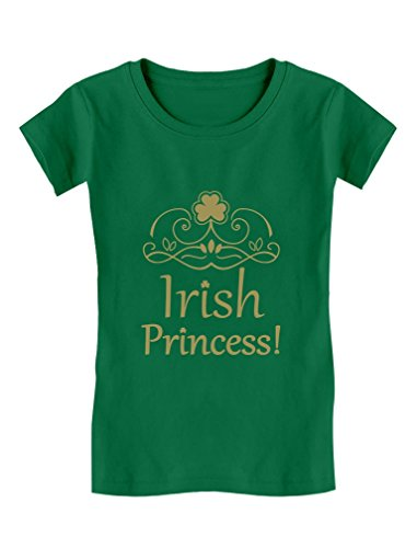 Tstars Irish Princess Gift For ST. Patrick's Day Toddler/Kids Girls' Fitted T-Shirt 4T Green