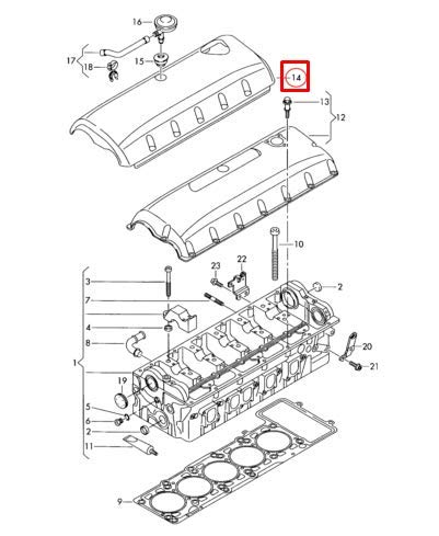 7LA Engine Cover 070103502C New Genuine: