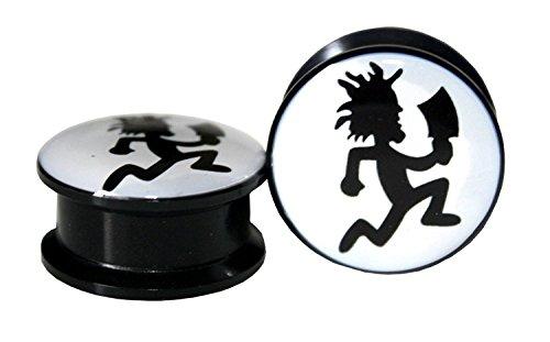 The Madd Hatter INSANE CLOWN POSSE Screw-on plugs Acrylic (1 Pair) (2g (6mm))