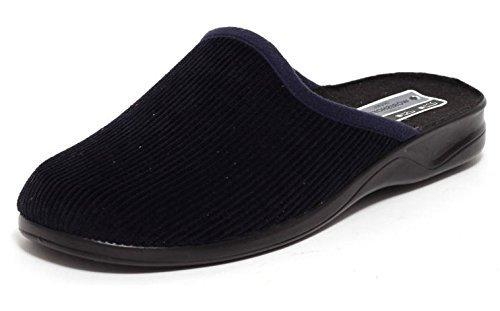 Herren Cord Hausschuhe Wörishofer Slipper Schuhe Pantoletten Pantoffeln blau