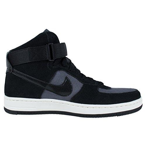 Nike Men, w af1 Ultra Force mid, Multi (Black/Black-Dark Grey) Schwarz