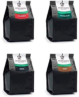 Afortunato, Degustación de Cafés 4 Orígenes, Cápsulas Compostables Compatibles con Nespresso (40 Cápsulas
