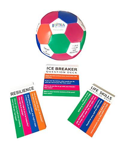 Totika Icebreaker, Resilience, Life Skills Cards and Thumball