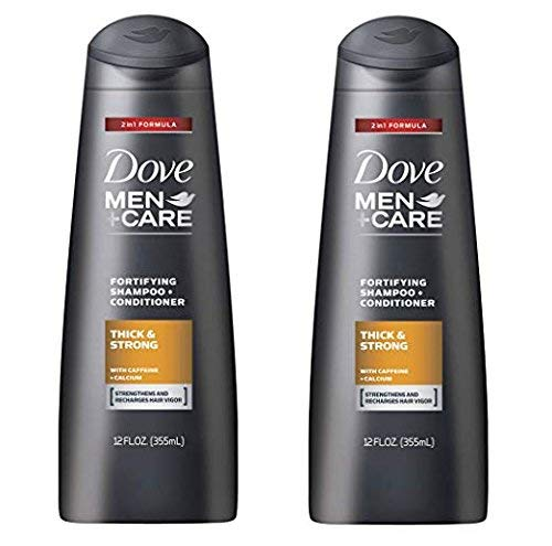 Dove Men+Care Thick and Strong Fortifying 2in1 Shampoo and Conditioner 12 FL OZ - Pack of 2 by Dove