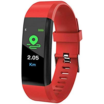 DMMDHR New 115 Plus Smart Wrist Watch Health Fitness Tracker Heart Rate Monitor Pedometer Sports Waterproof OLED Screen Wristband Estimated Price £26.60 -