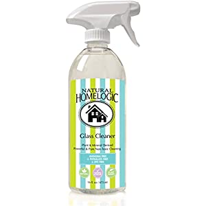 Natural HomeLogic Eco Friendly Glass Cleaner, 16 fl oz, Ammonia Free, Unscented | Non-Toxic, Sulfate Free, Fume Free, Safe, & Powerful Formula For A Natural Clean (1 Pack)