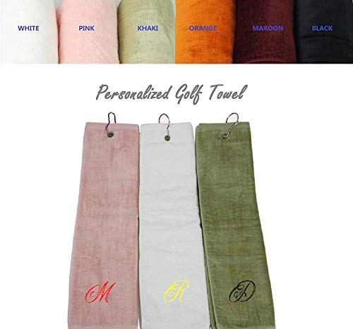 Custom Personalized Embroidered Golf Towel 100% Cotton 16