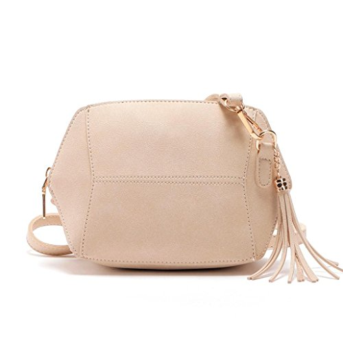 Hunpta Crossbody Shoulder Bag Womens Leather Shoulder Bag Satchel Handbag Tote Hobo Crossbody Bags Beige