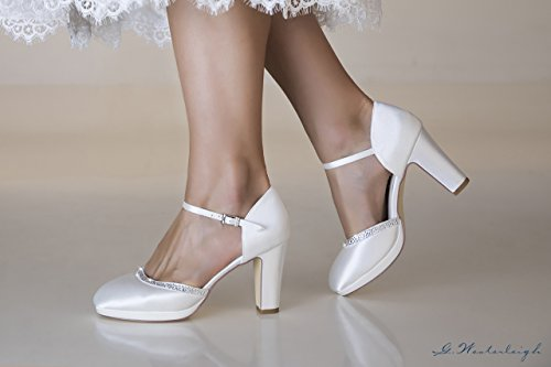 Brautschuhe Ivory Satin Hochzeitsschuhe Ivory Hochzeitsschuhe Gabrielle Gabrielle Brautschuhe Satin q0qxwHvP
