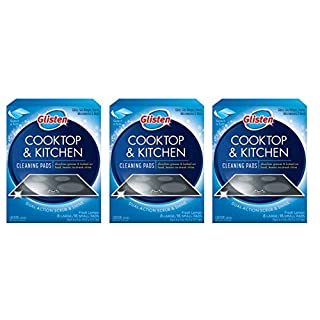 Glisten GC0608T Cooktop & Kitchen Cleaning, 8 Large/16 Small Pads Per Box, 3 Pack