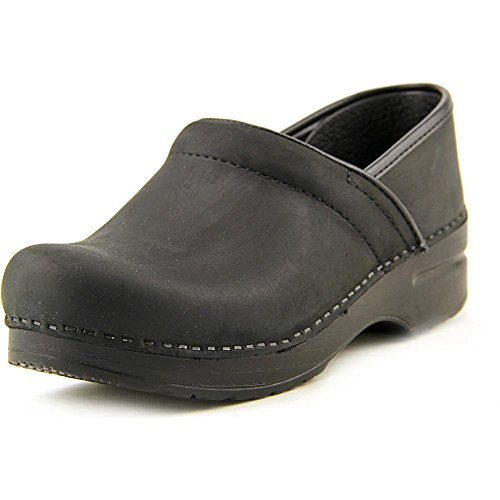 (Professional Stapled Clog By Dansko Unisex Nursing Shoe Black Oiled Size 37 EU)