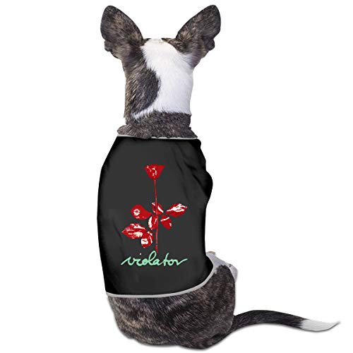 LSKXBC Leisure Womens Depeche Mode Violator Lovely and Comfortable Pet Clothesv for Dogs and Cats S Black ()