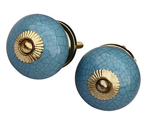 Blue Round Knob - 4