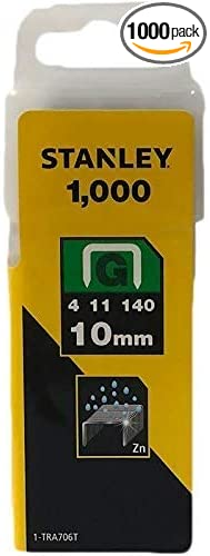 Silver 1000 piece Stanley 1-TRA202T Type A Staples
