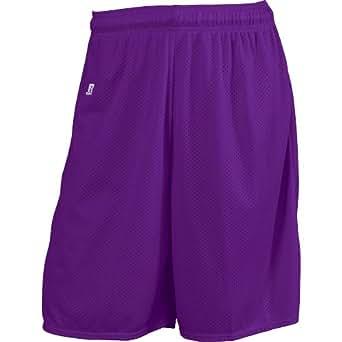"Russell Athletic Men's Deluxe 10"" Mesh Shorts , Purple, medium"
