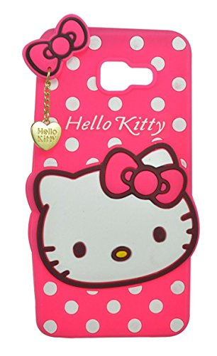 Harshu Piyush 3D Designer Hello Kitty Back Cover for Samsung Galaxy J7 Prime   Pink