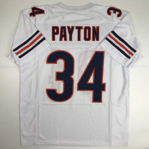- Unsigned Walter Payton Chicago White Custom Stitched Football Jersey Size Men's XL New No Brands/Logos