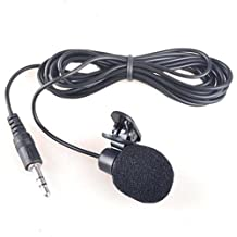 HDE Mini Hands Free Lavalier Clip-On Lapel Mic 3.5mm Jack Computer Microphone