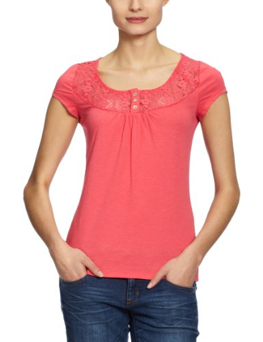 Only - Camiseta de manga corta para mujer Rojo