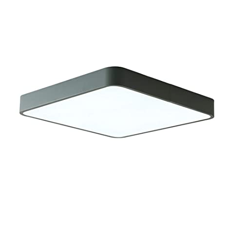 Sheen - Lámpara de techo LED cuadrada moderna, 12 W ...