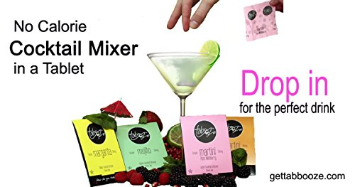 Tabooze Sugar Free Cocktail & Drink Mixer Tablets (Party Pack, 40 Tablets)