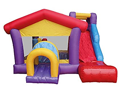 MACALEAN Inflatable House Slide Bouncer with Blower/MACALEAN Inflable Casita Encantada con Motor
