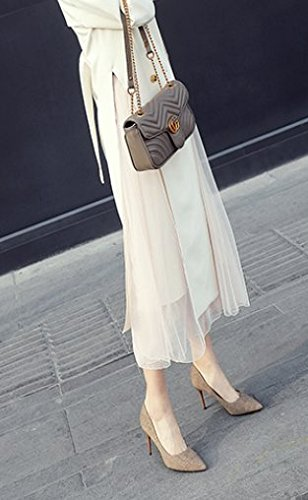 Work Shoes Heels Point Shoes Work Spring Leisure All Occupation 38 High Brown 8Cm Match MDRW With Elegant Fine Work Lady Shoes qfzwn0AxEg