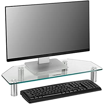 Completely new Amazon.com: VonHaus Glass Corner Monitor Stand - Adjustable Height  GN13