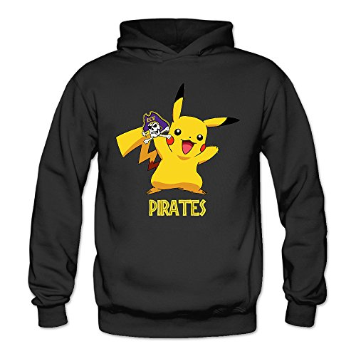 Female Pictures Pirates (Bro-Custom Poke Pika-ECU Pirates Hooded For Women Size S)