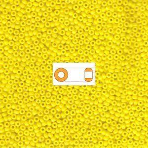 Yellow Opaque Miyuki Japanese round rocailles glass seed beads 11/0 Approximately 24 gram 5 inch tube (Seed Bead 11/0 Round)
