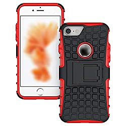 Rugged Tpu Plastic Hybrid Heavy Duty Armor Phones Case For Apple Iphone 4s 5 5s Se 6 6s 7 8 Plus 7plus X Shock Proof Red For Iphone X