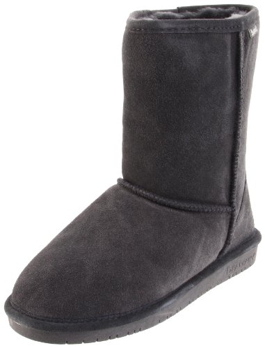 - BEARPAW Women's Emma Short Boot,Charcoal,8 M US