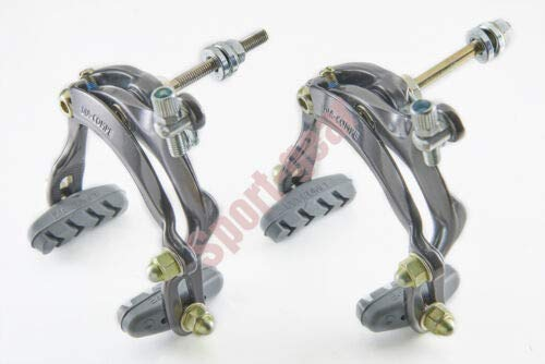 FidgetGear BT410 Dia-COMPE (Long Arm) Front Rear Caliper Brake Set for Road Bike Bicycle Titanium