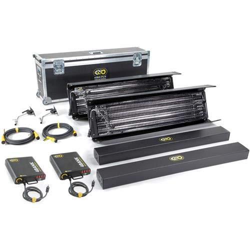 - Kino Flo Gaffer Select 4 Bank 2 Light Kit, 120VAC