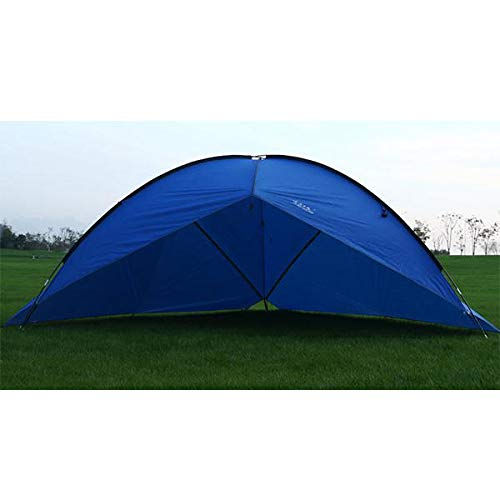 Outdoor Large Three-Sided Camping Tent Rainproof UV Beach Sunshade Canopy Awning - Dark Blue Anddo