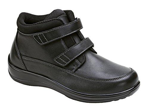 Orthofeet Shenandoah Comfort Arthritis And Diabetic Orthopedic Orthotic Womens Boots Velcro Strap Extra Depth Black Leather 7 XW US by Orthofeet