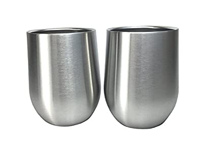 Avito Stainless Steel Wine Glasses - No Lids - Parent