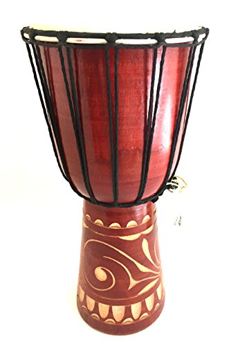 Djembe Drum African Bongo Drum Hand Drum LARGE SIZE 16'' - Jive Brand - PROFESSIONAL SOUND/QUALITY - Carved by Jive